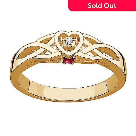 05d061d87132c Diamond & Birthstone Celtic Heart Promise Ring
