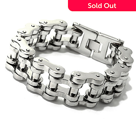 fd099fd256f8e 142-270- Steel Impact™ Men's Stainless Steel Bicycle Chain Link Bracelet