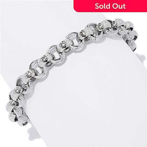 145 365 Steel Impact Men S Stainless Greek Key Rolo Link Bracelet