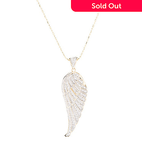 angel pendant yellow fancy necklace gold diamond copy wing necklaces