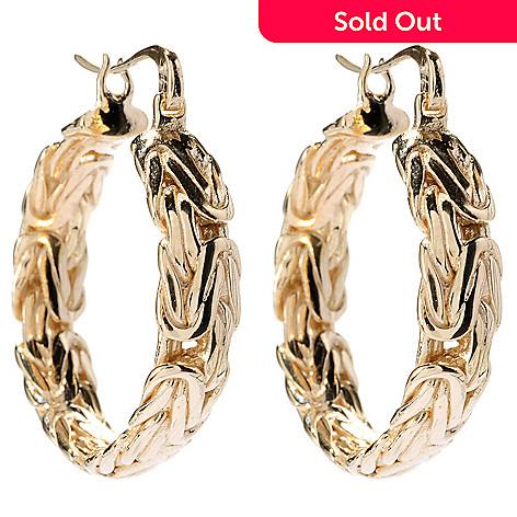 146 484 Antalia Turkish Jewelry 18k Gold Embraced 1 5 Textured Hoop