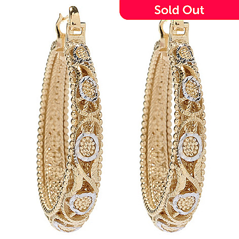 146 487 Antalia Turkish Jewelry 18k Gold Embraced 1 5 Filigree Hoop