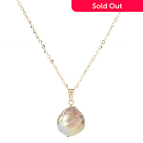 Viale18k italian gold 12 13mm ming cultured pearl pendant w chain 146 707 viale18k italian gold 12 13mm ming cultured pearl pendant w aloadofball Image collections