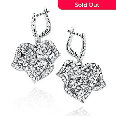 148 331 Suzy Levian New York Sterling Silver 2 16 Dew Simulated Diamond Leaf Drop