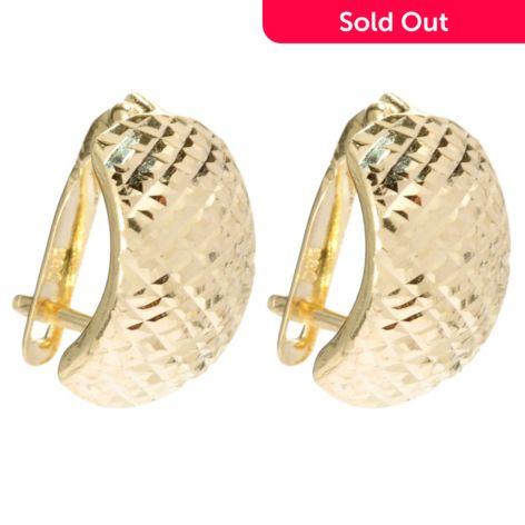 14k Gold Hinged Back Huggie Hoop Earrings Evine