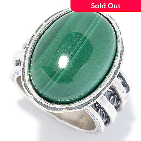 846f9025af5d5 Passage to Israel™ Sterling Silver 18 x 13mm Oval Gemstone Spinner Ring