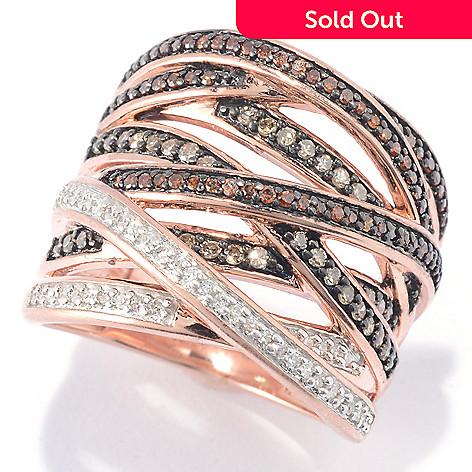 e3d9a67fd 149-036- Diamond Treasures® 0.48ctw Fancy Color Diamond Highway Ring