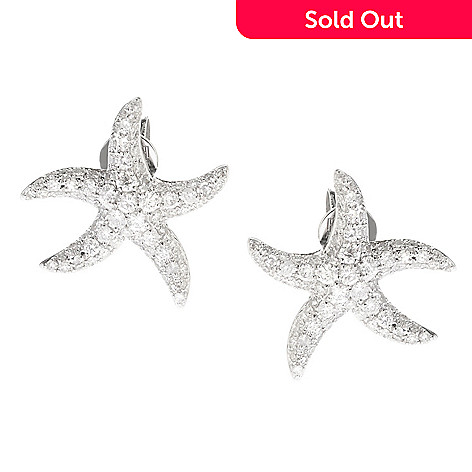 149 245 Effy 14k White Gold 0 66ctw Diamond Starfish Earrings