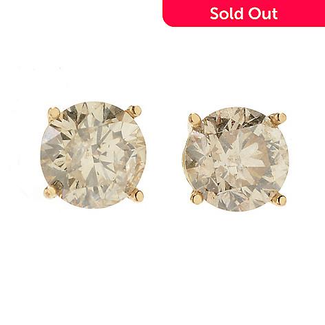0f8a8df90 149-565- Diamond Treasures® 14K Gold Champagne Diamond Stud Earrings