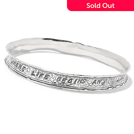 150 916 Page To Israel Sterling Silver Choice Of Size Inspirational Bangle Bracelet