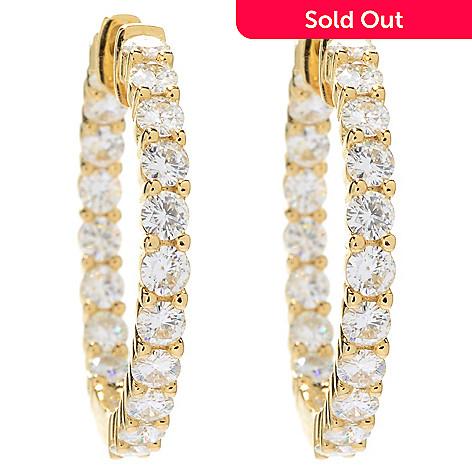 152 077 Forever Brilliant Moissanite 14k Gold 2 28 Dew Inside Out Hoop Earrings