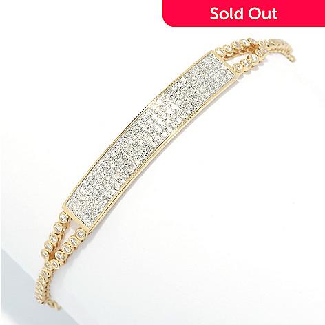 Beverly Hills Elegance® 14K Gold 1 25ctw Diamond Bar Adjustable Bracelet