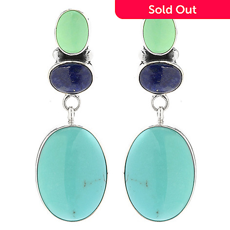 153 214 Gem Insider Sterling Silver 1 5 Multi Mexican Turquoise Lapis