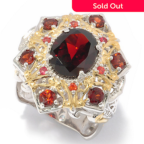 Gems En Vogue 450ctw Almandine Garnet Orange Sapphire Ring Evine