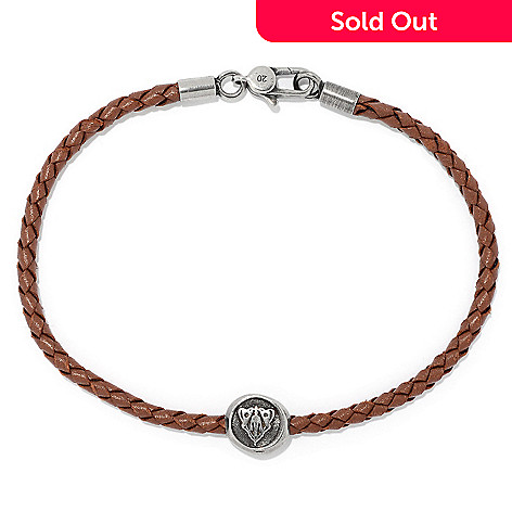 155 308 Gucci Men S Sterling Silver Leather 8 Or 5 Crest