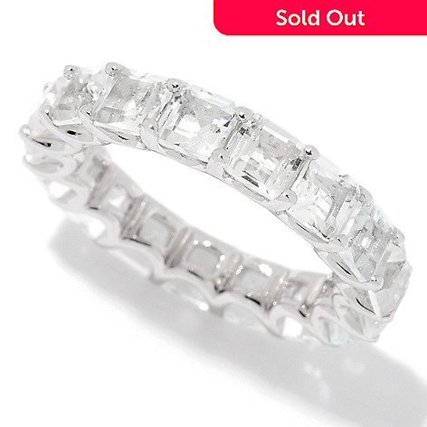 156 056 Peace Love Legacy Sterling Silver 6 59ctw White Topaz Eternity Band