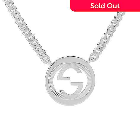 Gucci sterling silver 1775 interlocking g necklace 183 grams 156 063 gucci sterling silver 1775 interlocking g necklace 183 aloadofball Choice Image