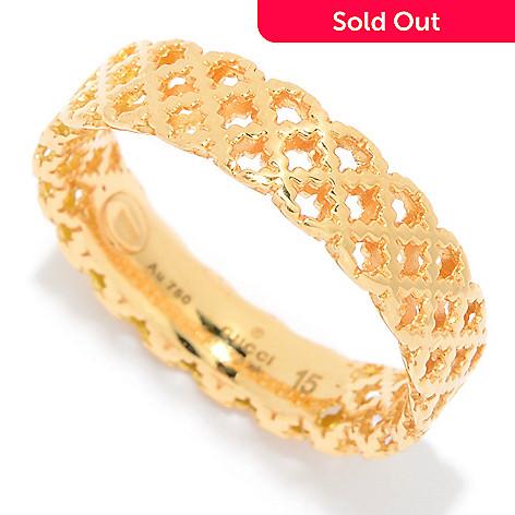 2e7b06e68 156-079- Gucci 18K Gold Diamantissima Band Ring