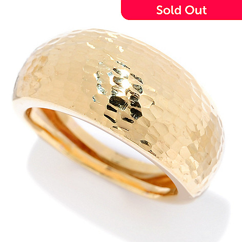 Stefano Oro 14K Gold Diamond Cut Wide Band Ring