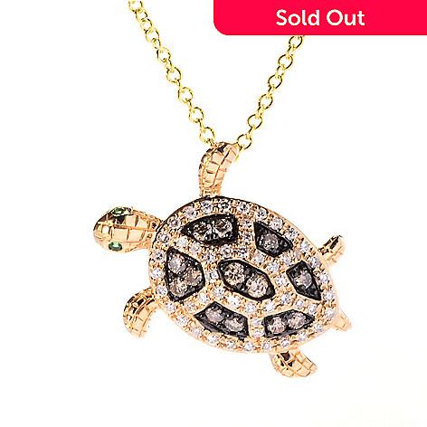 Effy 14k gold diamond animal pendant w 18 cable chain evine 156 420 effy 14k gold diamond animal pendant w 18 cable chain aloadofball Image collections