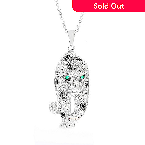 diamond ct panther oval gold pendant white womens