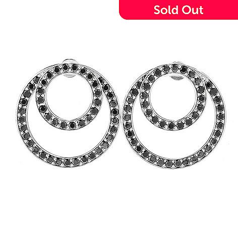 156 755 Gem Treasures Sterling Silver 4 06ctw Black Spinel Earrings W