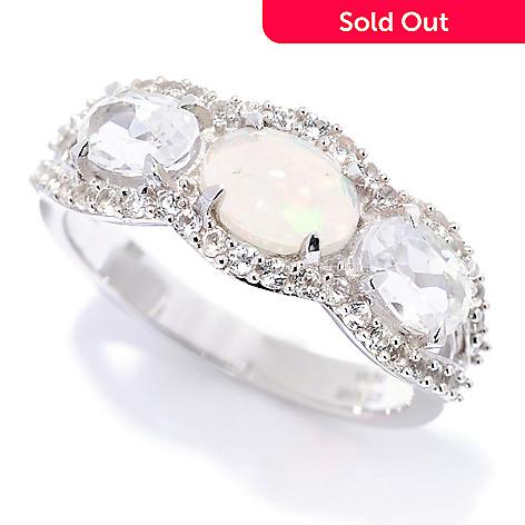 157 042 Gem Insider Sterling Silver Ethiopian Opal White Topaz Gemstone