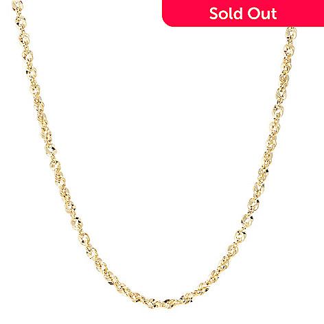 157 205 Stefano Oro 14K Gold Abbracci Twist Chain Necklace