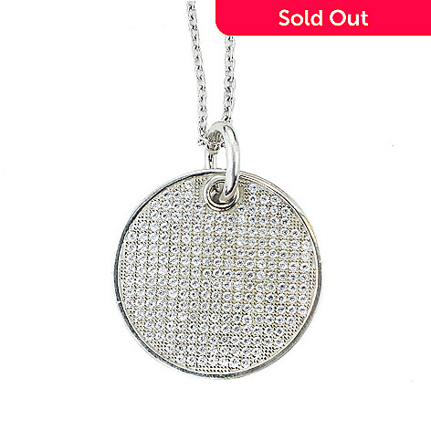 e958304d5a2 157-869- Valitutti Star Cut Sterling Silver 1.78 DEW Cubic Zirconia Round  Dog Tag