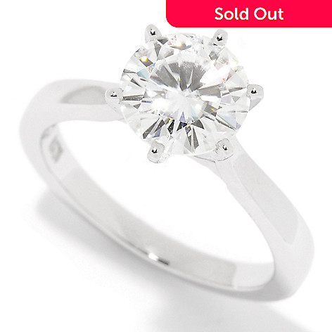 Forever One Colorless Moissanite 14K Gold 1 50 DEW Solitaire Ring