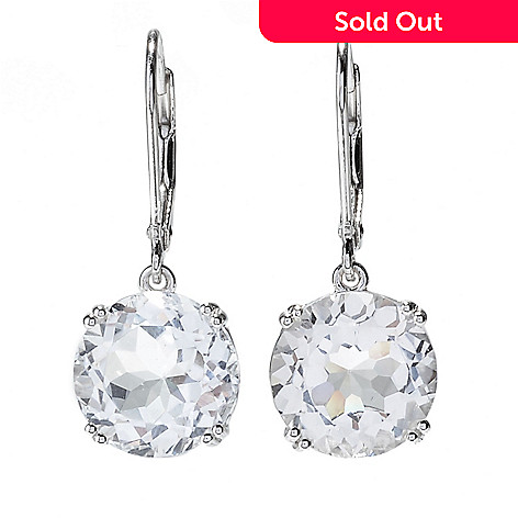 158 639 Gem Insider Sterling Silver 1 11mm Gemstone Leverback Earrings