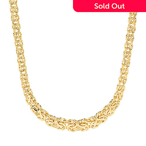 158 812 Stefano Oro 14k Gold 18 Byzantine Chain Necklace 12 92 Grams