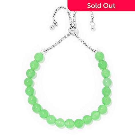 e074891500109 Gem Treasures® Sterling Silver Gemstone Bead Adjustable Layering Bracelet
