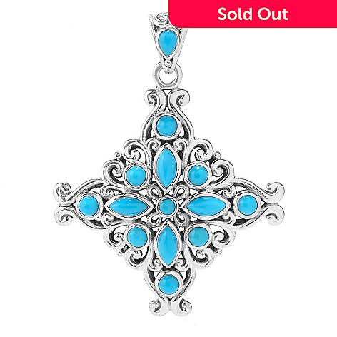 Artisan silver by samuel b sleeping beauty turquoise diamond shaped 159 497 artisan silver by samuel b sleeping beauty turquoise diamond shaped pendant aloadofball Images