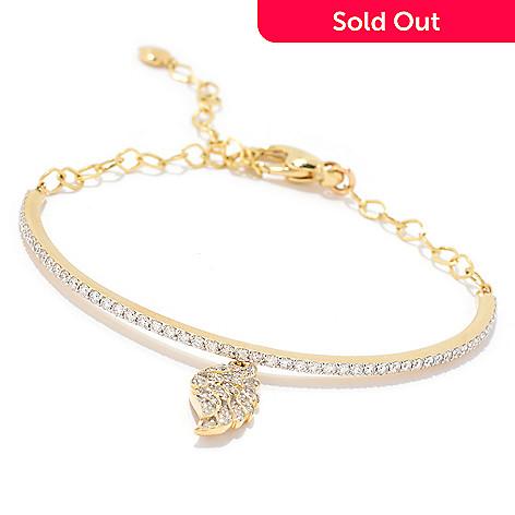 159 796 Beverly Hills Elegance 14k Gold 1 00ctw Diamond Angel Wing Charm
