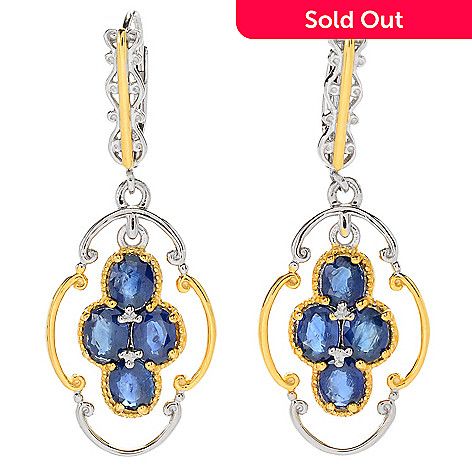 161 106 Gems En Vogue 1 5 4 00ctw Royal Blue Shire Dangle Earrings