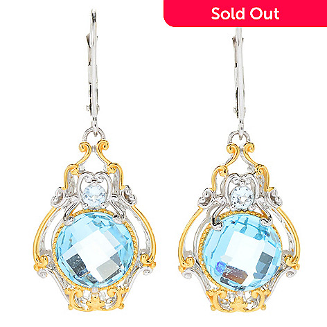 161 232 Gems En Vogue 1 5 8 90ctw Sky Blue Topaz Briolette Drop
