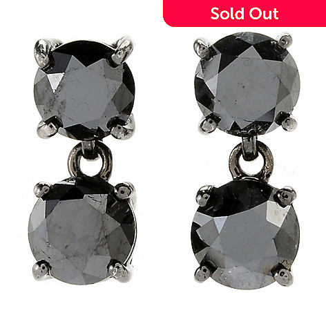161 345 Diamond Treasures Choice Of Size Black 2 Stone Drop