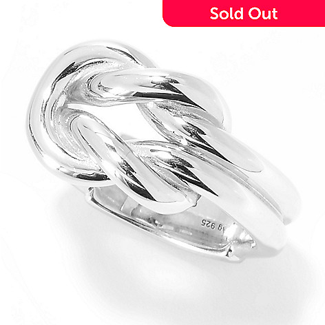 378d57175f092 Gucci Sterling Silver Interlocking Knot Ring