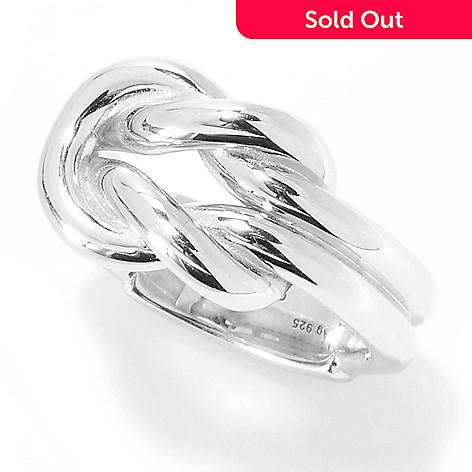 f58ae76cdba 161-859- Gucci Sterling Silver Interlocking Knot Ring