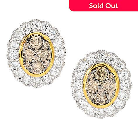 161 946 Prism 14k White Gold 1 09ctw Australian Mocha Lily Diamond