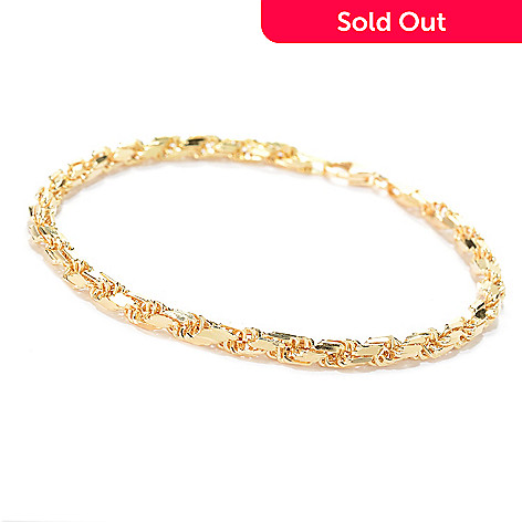 161 996 Stefano Oro Men S 14k Gold 8 5 Diamond Cut Rope Bracelet