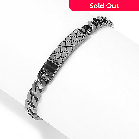 57e7dbb1346 162-186- Gucci Sterling Silver Choice of Length Diamantissima Curb Link  Bracelet