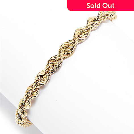 162 288 Viale 18k Italian Gold 7 5 Or 8 Polished Rope