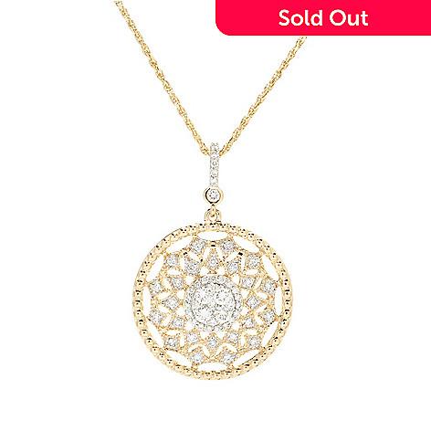 Beverly hills elegance 14k gold 060ctw diamond openwork sunburst 162 666 beverly hills elegance 14k gold 060ctw diamond openwork sunburst pendant aloadofball Images