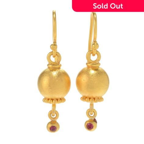 Pomegranate Double Drop Limited Edition Earrings poNdC
