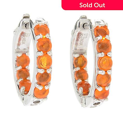 1c9bbb51f0970 Gem Treasures® Sterling Silver Gemstone Huggie Hoop Earrings