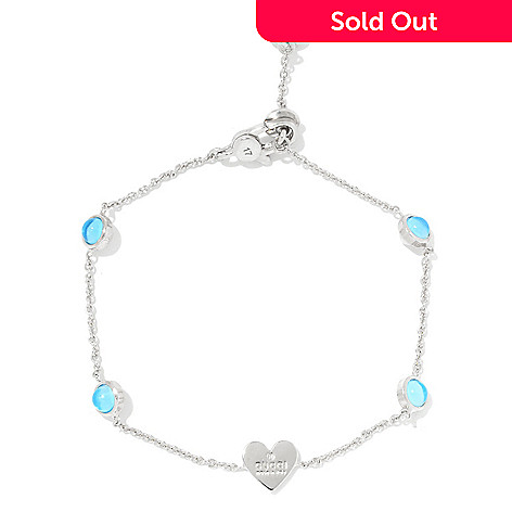 8b04edd3c 164-550- Gucci Sterling Silver Choice of Length Trademark Heart Bracelet