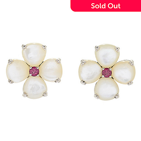 164 595 Dallas Prince Sterling Silver Mother Of Pearl Gemstone Flower