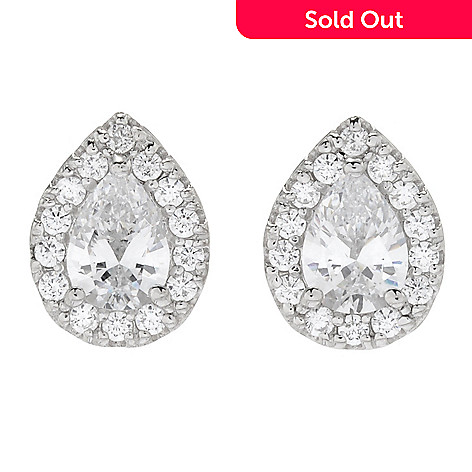 54c472fca 165-424- Victoria Wieck for Brilliante® Choice of Cut Halo Stud Earrings